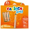 Carioca: 3 az 1-ben bébi zsírkréta 10db-os készlet