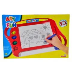 Art & Fun: Piros mágneses rajztábla kiegészítőkkel - Simba Toys