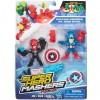 Marvel Super Hero Mashers Amerika kapitány Iron Skull ellen figura 6cm - Hasbro