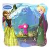 Jégvarázs Anna és Elza fa puzzle óra 13db-os