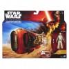 Star Wars - Az ébredő Erő: Rey és robogója akciófigura 10 cm - Hasbro