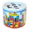 ABC és számos pasztell színű építőkockák - Woodyland
