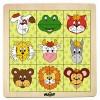Állatfejes fapuzzle 2. változat