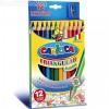 Háromszög Jumbo színes ceruza szett hegyezővel 12 db - Carioca