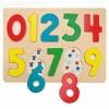 Számokat tanító fapuzzle