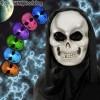 Világító színváltós koponya maszk