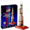 Willis Tower 3D puzzle 51 db - CubicFun